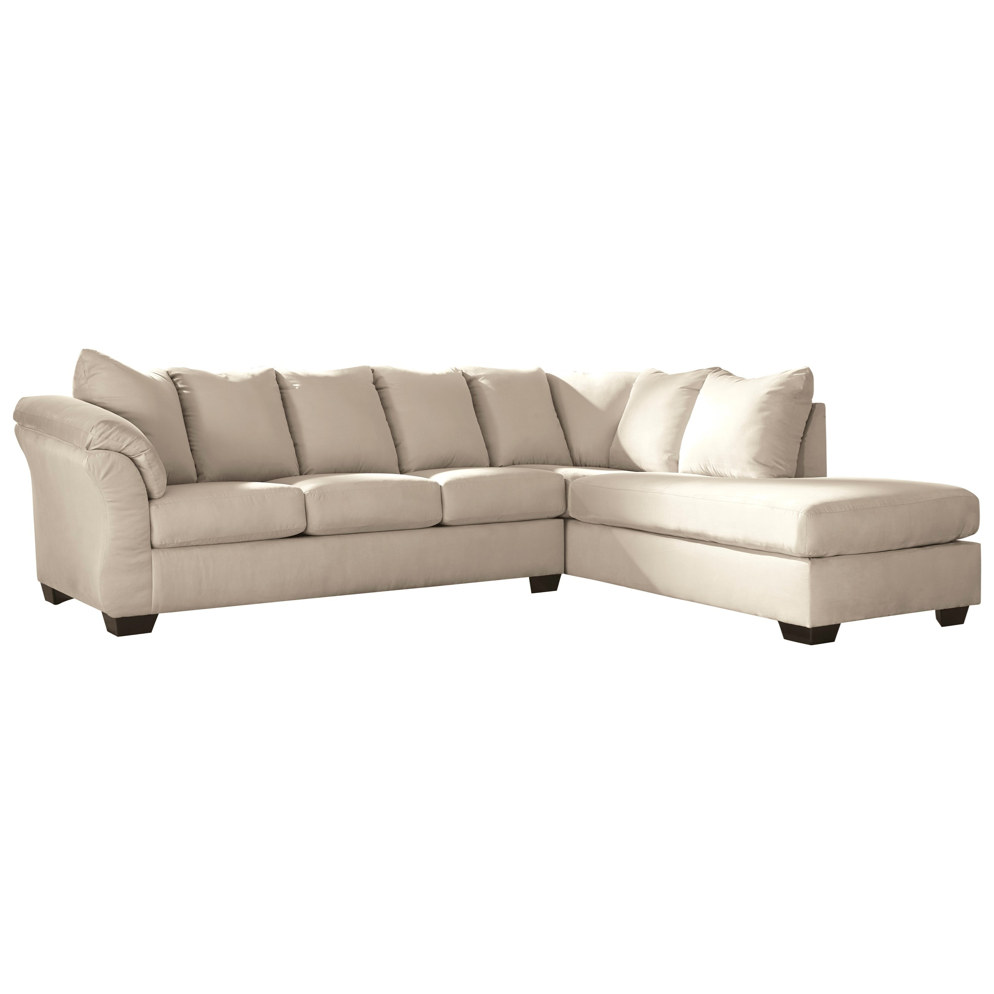 Sectional Sofas By Ashley Furniture: Contemporary 2-Piece Sectional Sofa With Right Chaise By