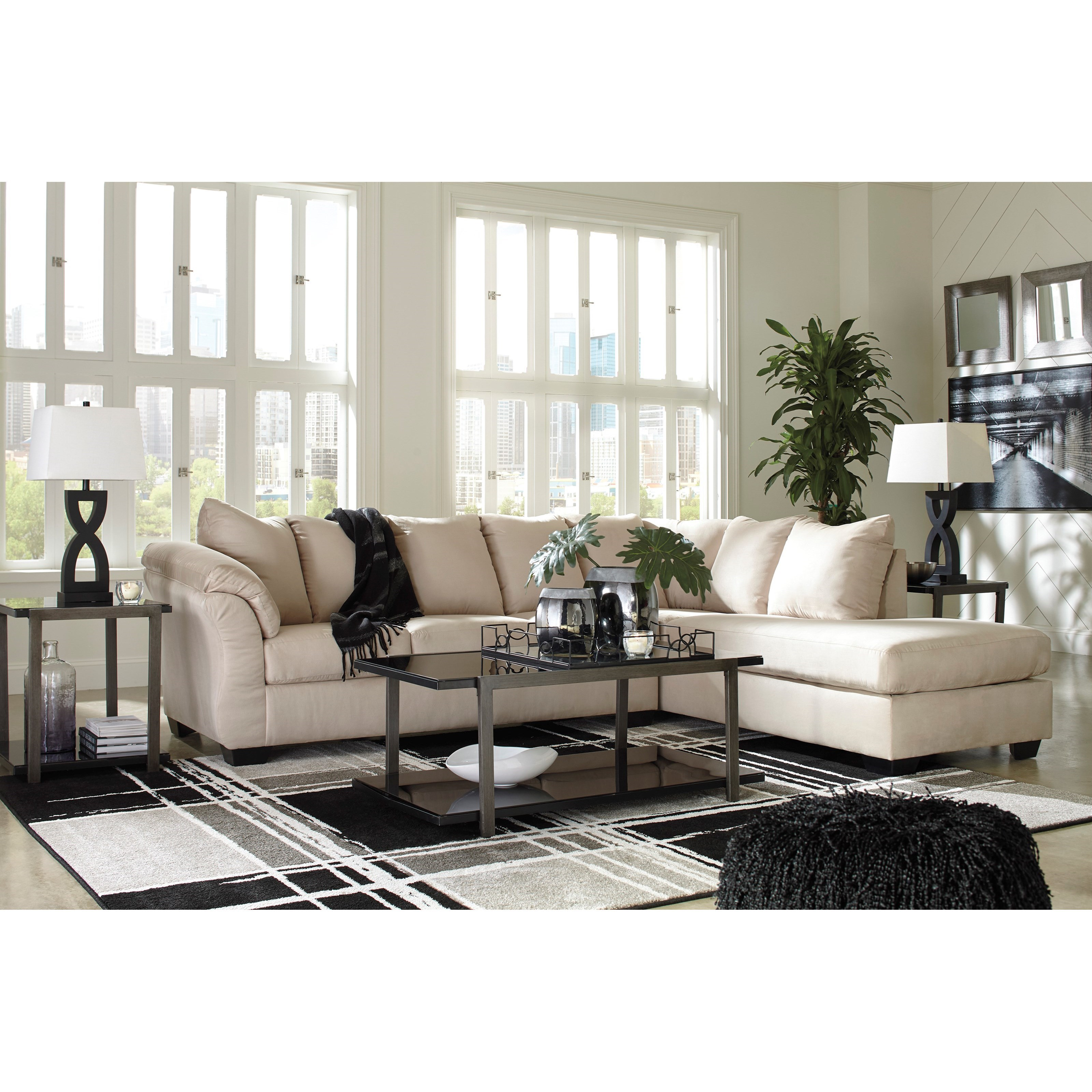 Contemporary Sectional Sleeper Sofa with Right Chaise by ...