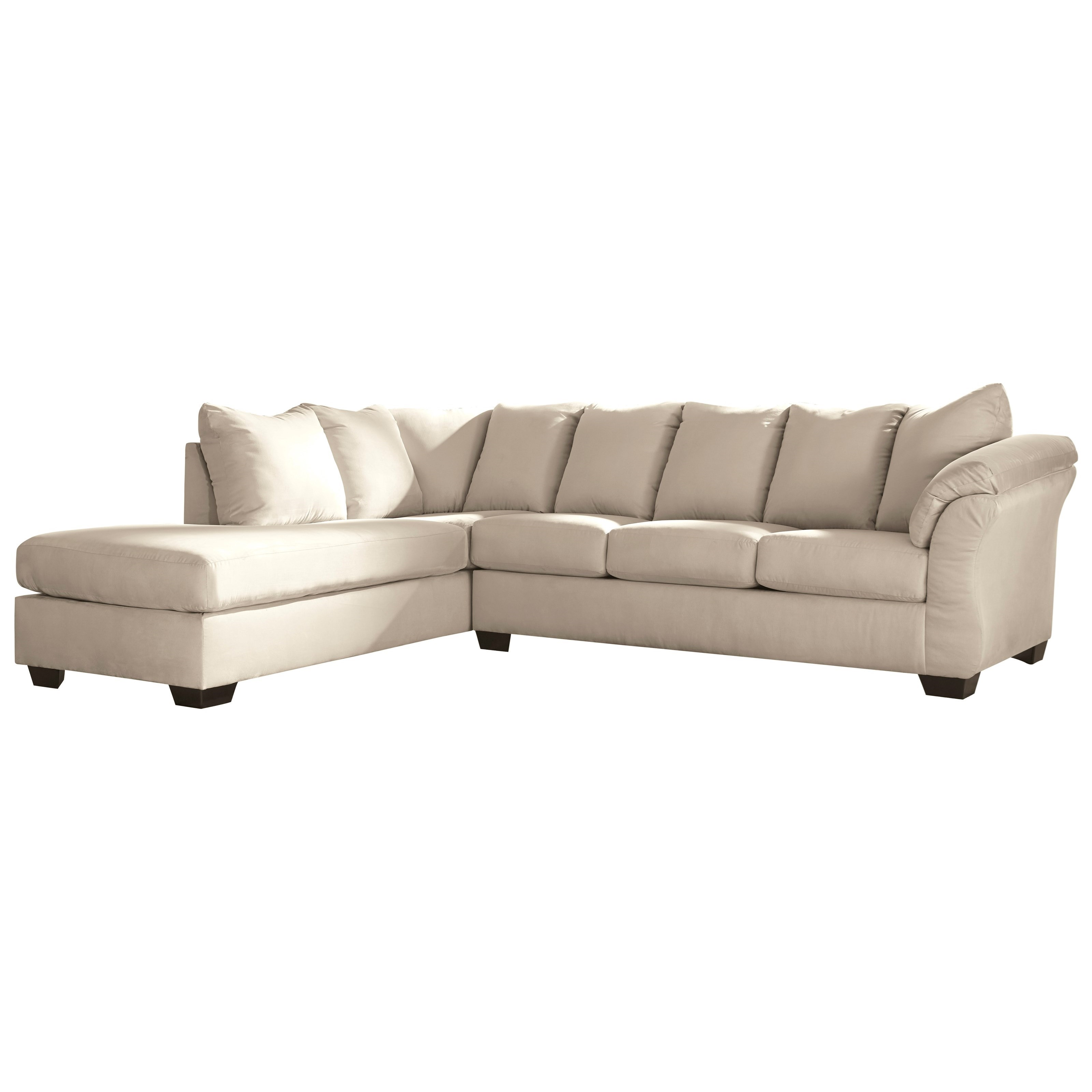 Contemporary Sectional: Contemporary 2-Piece Sectional Sofa With Left Chaise By