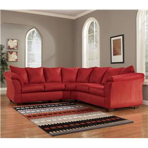 Signature Design by Ashley Furniture Darcy - Salsa Sectional Sofa