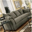 Signature Design by Ashley Furniture Darcy - Sage Contemporary Stationary Sofa with Flared Back Pillows