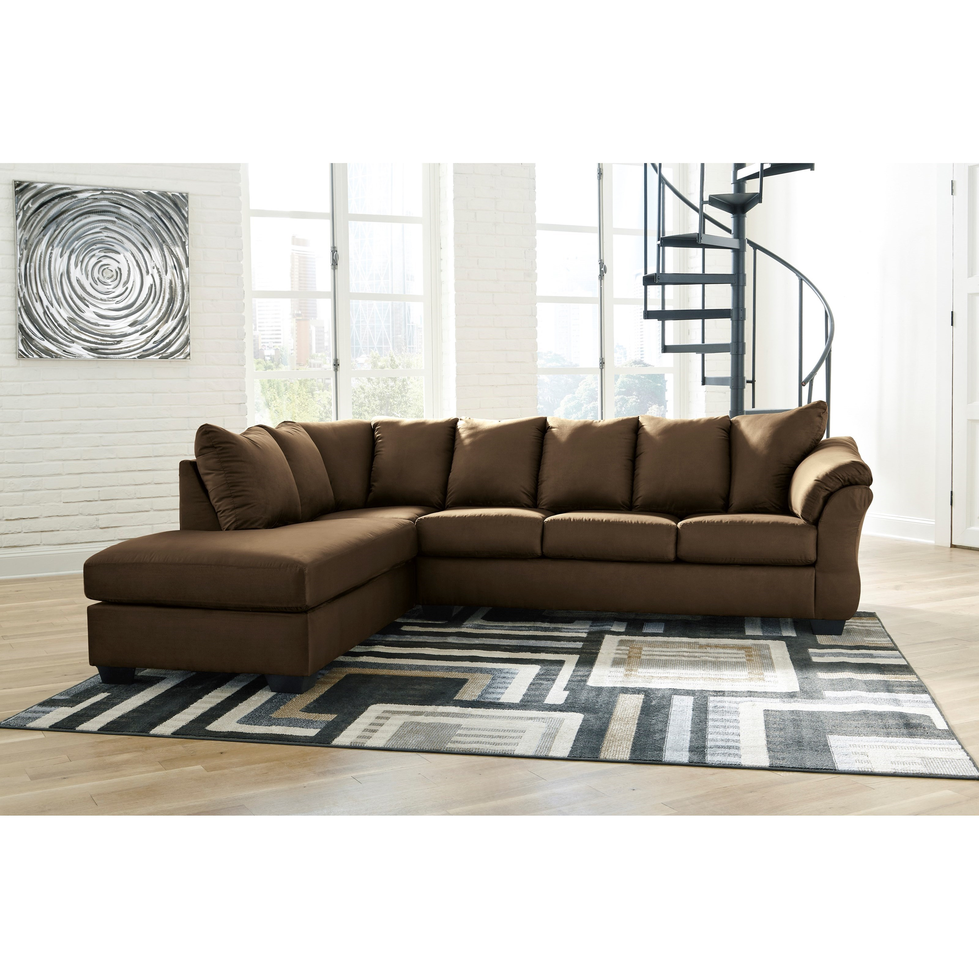 Darcy Corner Sofa House Of Fraser: Contemporary 2-Piece Sectional Sofa With Left Chaise By