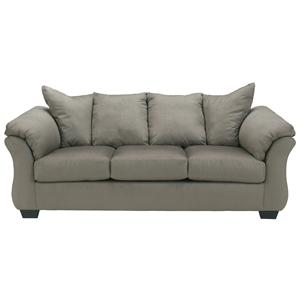 Contemporary Full Sleeper with Flared Back Pillows