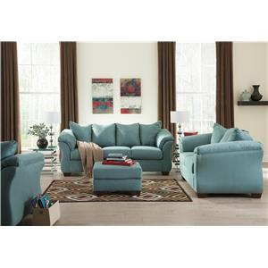Ashley (Signature Design) Darcy - Sky Stationary Living Room Group