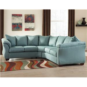 Ashley (Signature Design) Darcy - Sky Sectional Sofa