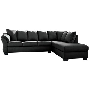 Contemporary 2-Piece Sectional Sofa with Right Chaise