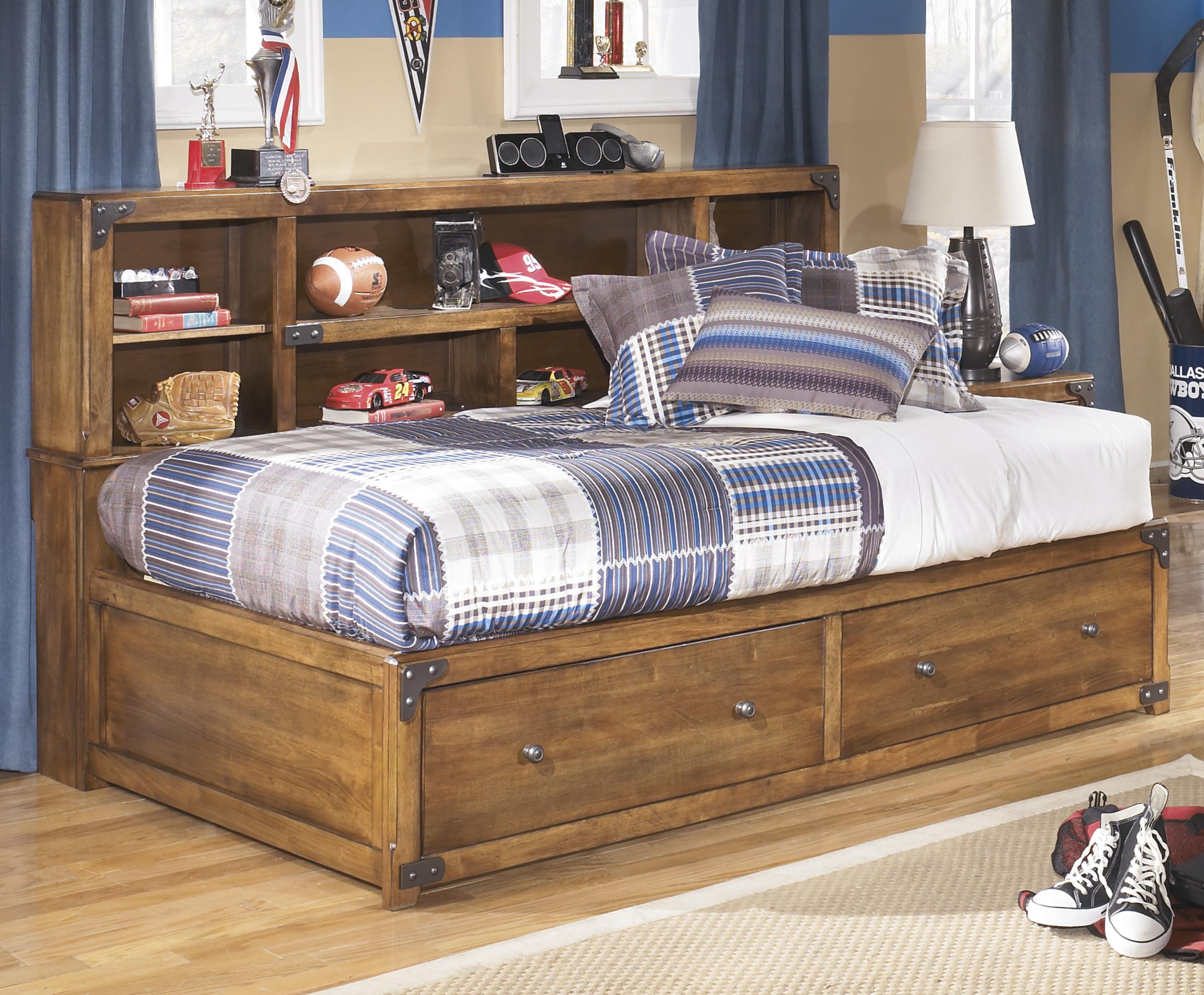 Twin Bookcase Bed With Footboard Storage By Signature