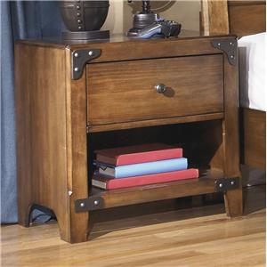 Signature Design by Ashley Delburne One Drawer Night Stand