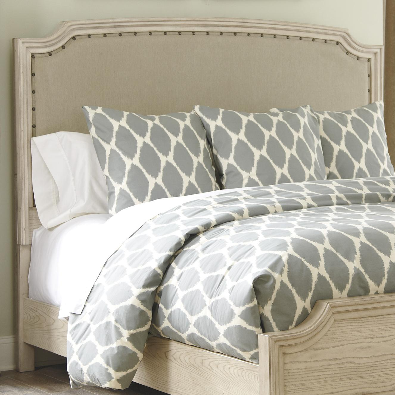 sleigh cal nail bed upholstered with trim king california products furniture head headboard