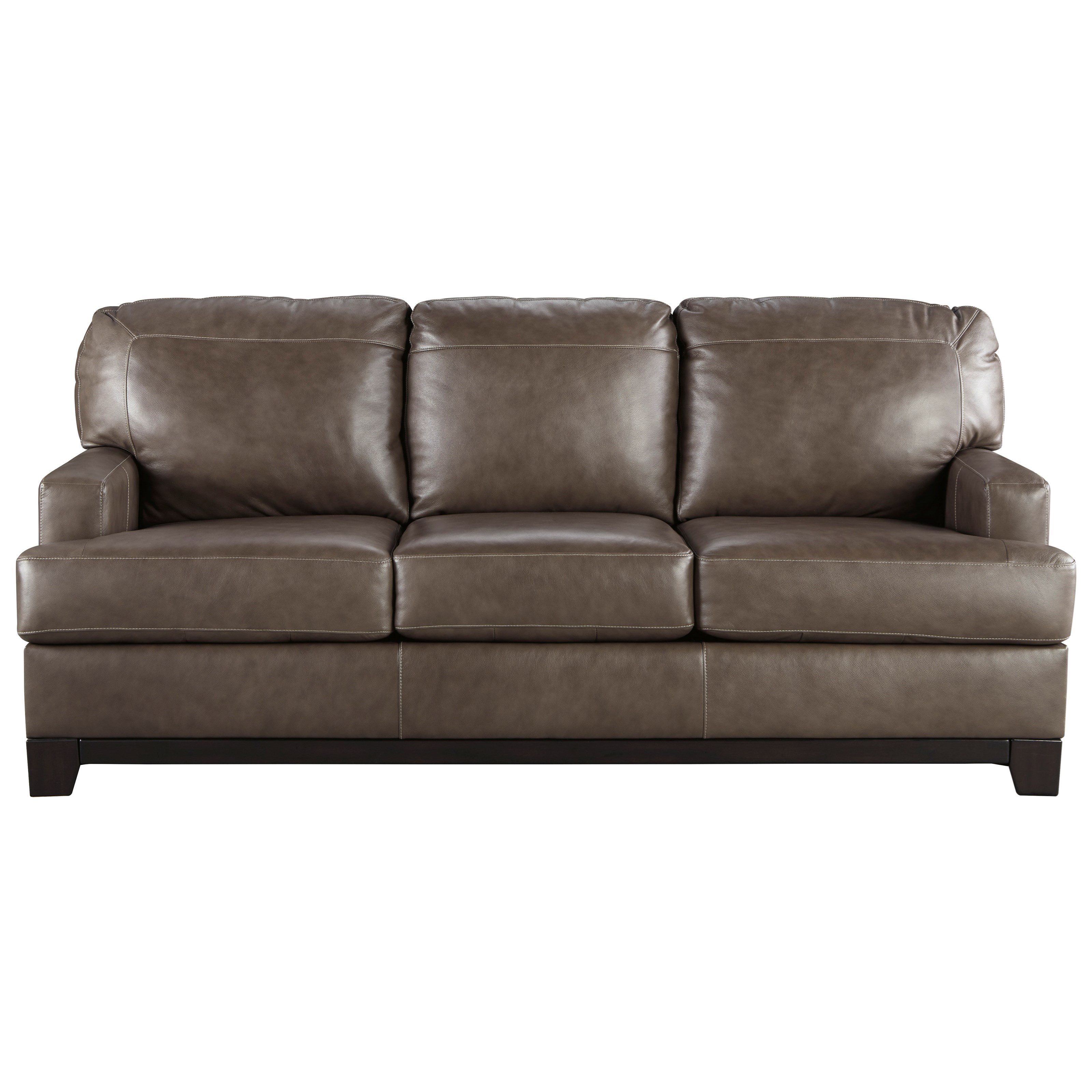 Contemporary Leather Match Sofa By Signature Design By Ashley Wolf And Gardiner Wolf Furniture