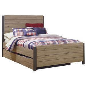 Signature Design by Ashley Dexifield Full Panel Bed w/ Trundle Under Bed Storage