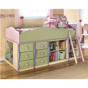 Ashley (Signature Design) Doll House Modular Loft Bed with Underbed Storage