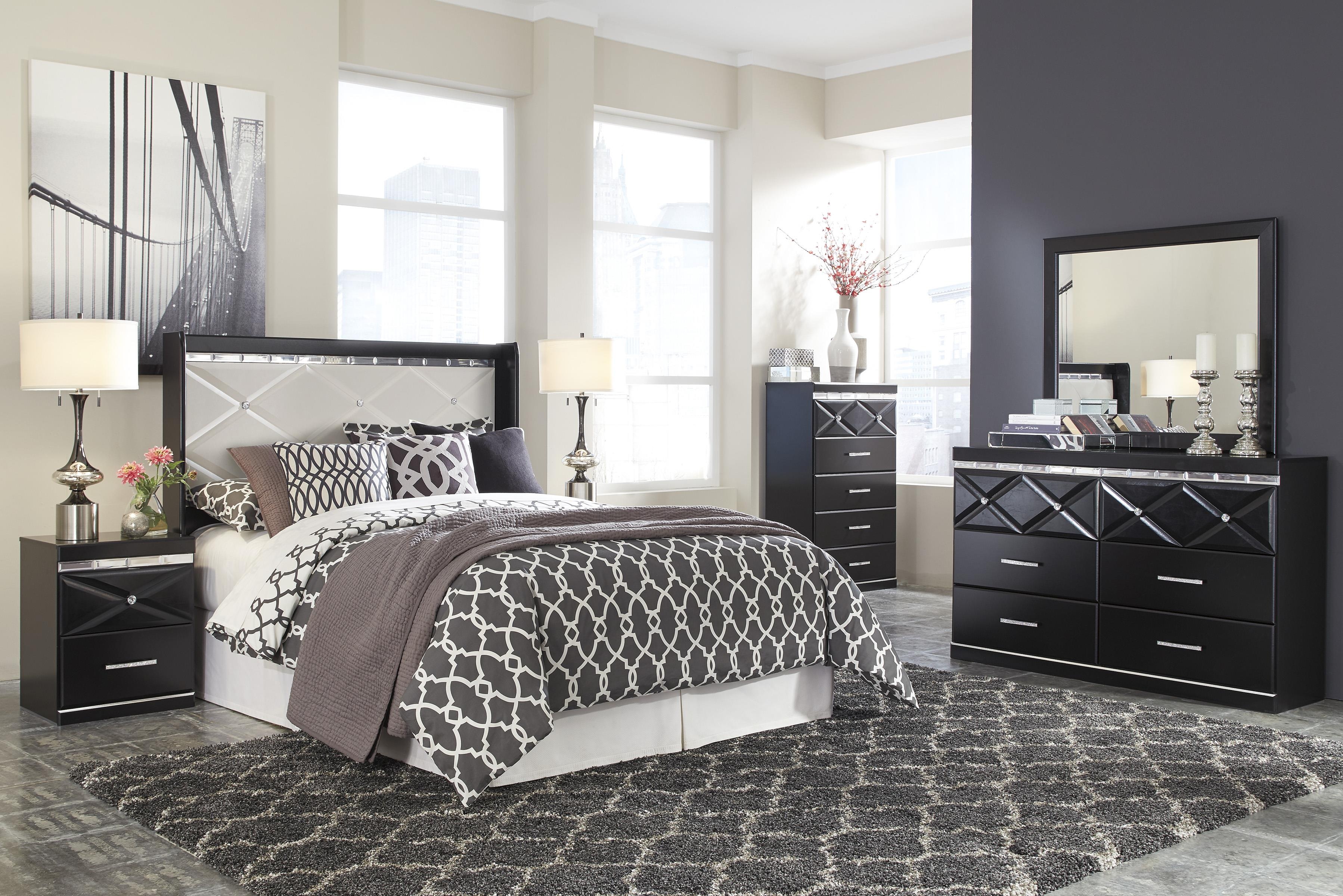 Queen Panel Headboard with Faux Crystals by Signature Design by Ashley : Wolf and Gardiner Wolf ...