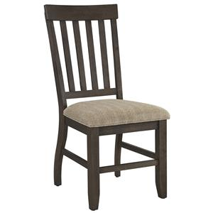 Dining Upholstered Side Chair with Slat Back