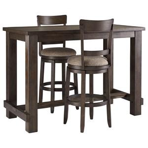 Three Piece Pub Table & Chair Set