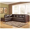 Signature Design by Ashley Furniture Fairplay DuraBlend® Sectional Sofa with Left Facing Chaise - Item Number: 4480016+67