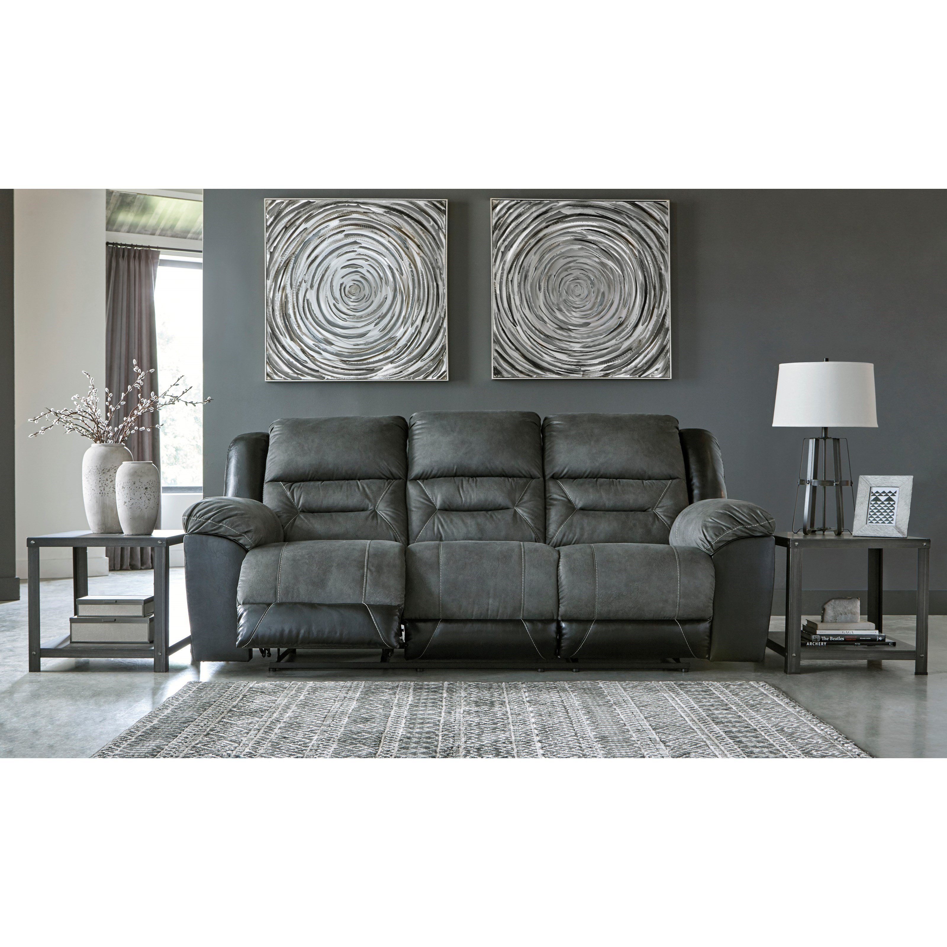 Casual Reclining Sofa With Pillow Arms By Signature Design