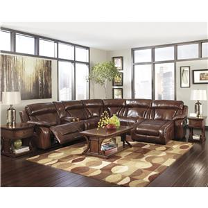 Signature Design by Ashley Elemen Power Reclining Sectional Sofa