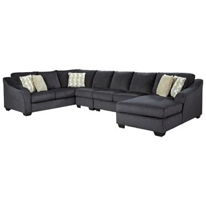 4 Piece Sectional with Right Chaise