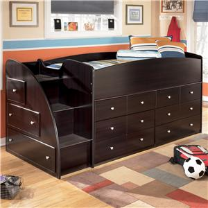 Signature Design by Ashley Furniture Embrace Twin Loft Bed with Chest Storage