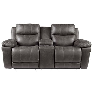 Power Reclining Loveseat with Adjustable Headrest and Center Console