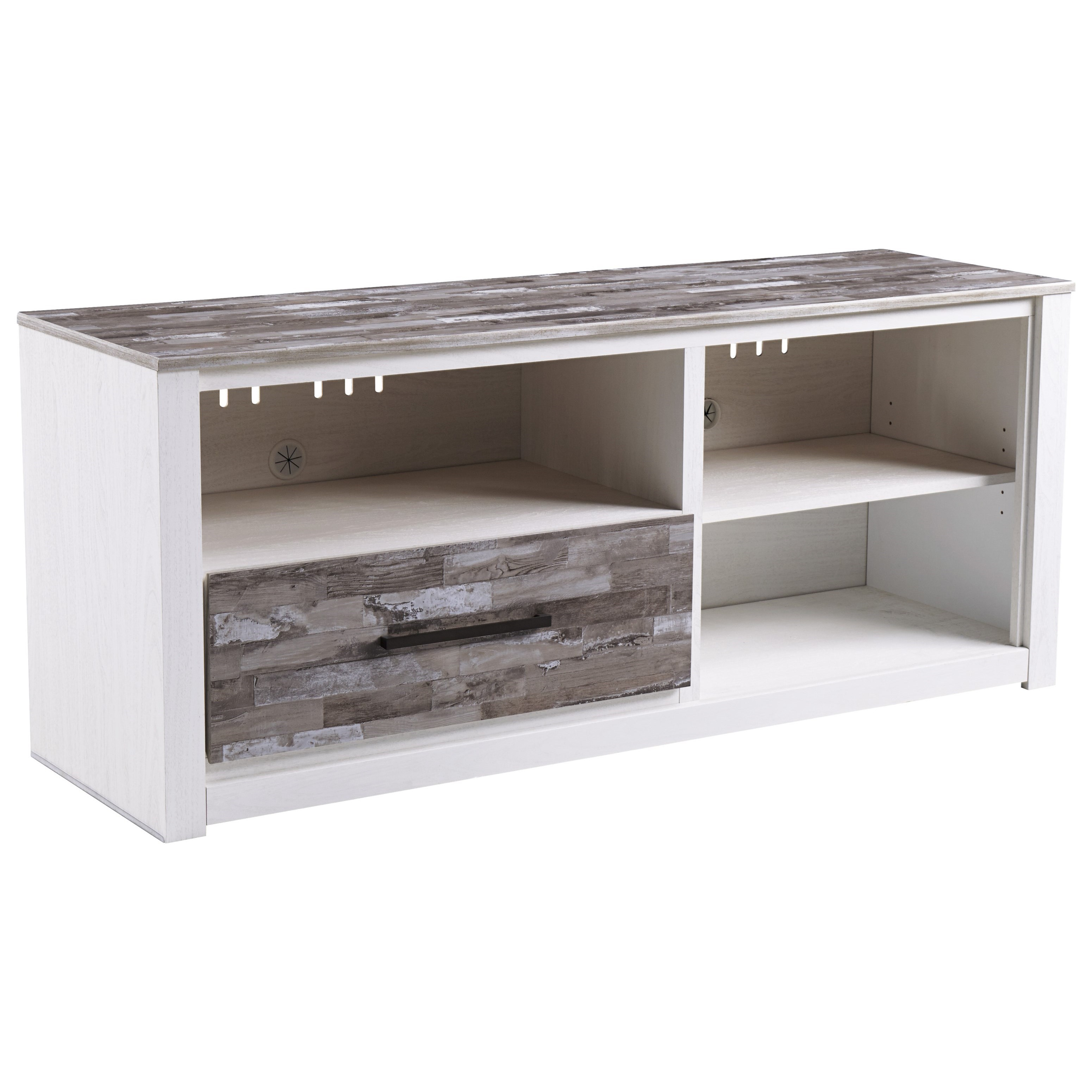 Large TV Stand with Adjustable Shelf