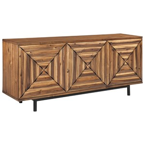 Contemporary 3-Door Accent Cabinet