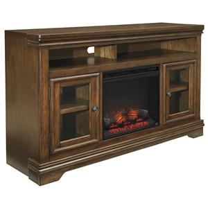 Signature Design by Ashley Farimoore Extra Large TV Stand with Fireplace Insert