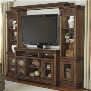Signature Design by Ashley Farimoore Transitional TV Stand with Bridge & Piers