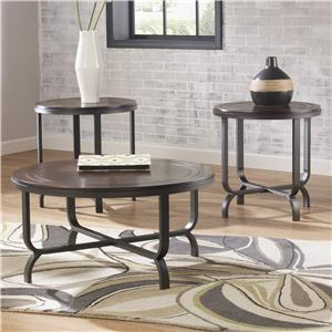 Signature Design by Ashley Ferlin Occasional Table Set