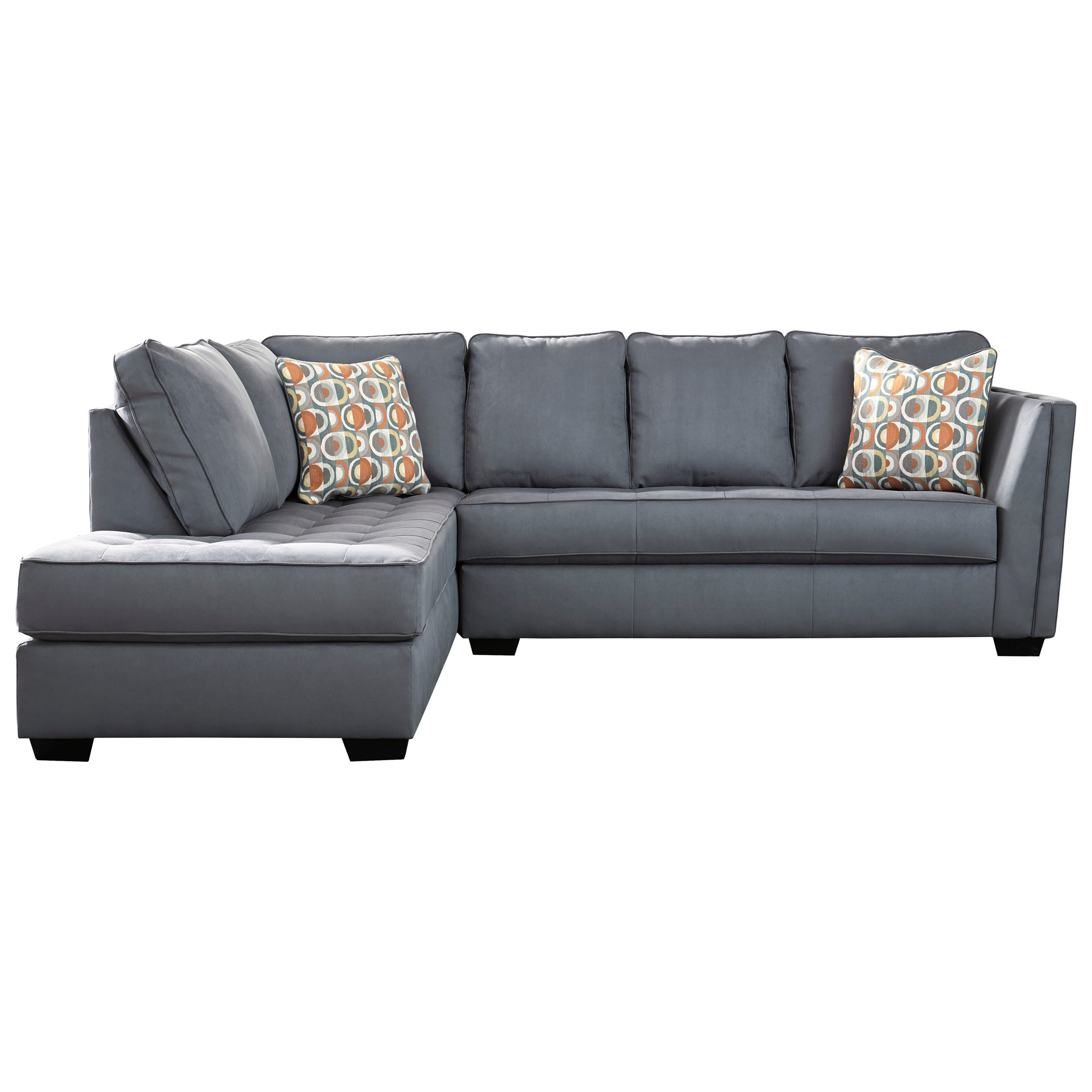 Contemporary Sectional Sofa with Chaise and Cushion Tufting by ...