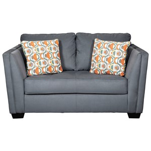 Contemporary Loveseat with Seat Tufting