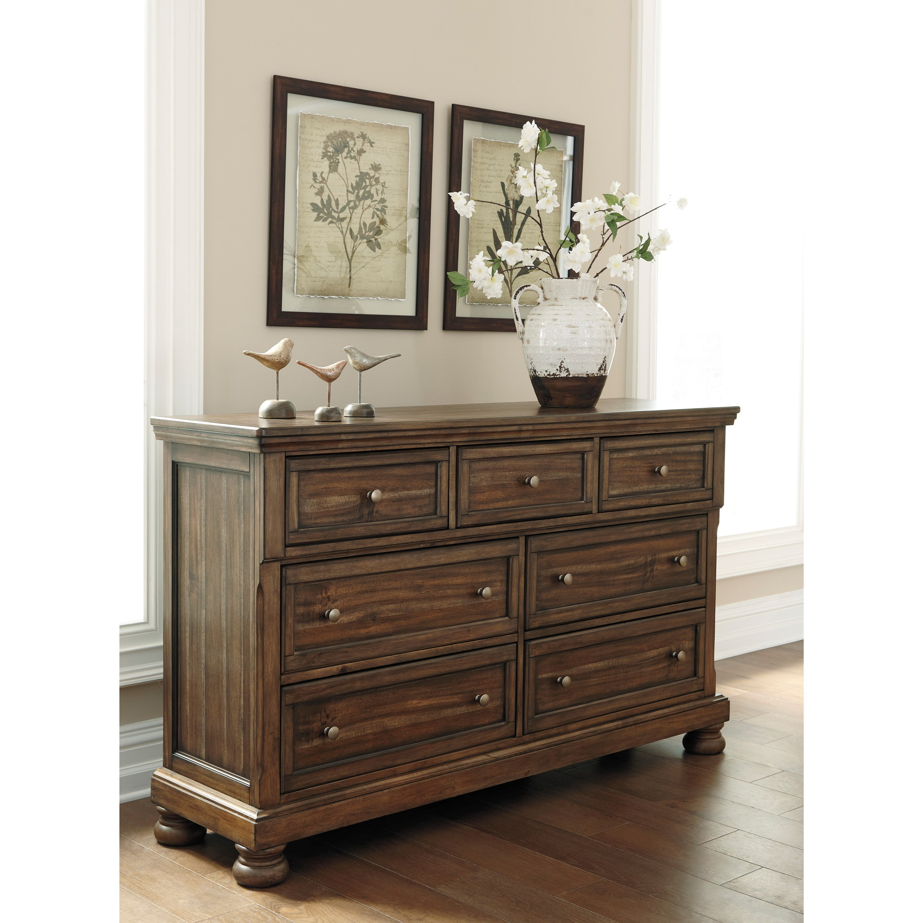 Dresser With Hidden Felt Lined Jewelry Drawer By Signature Design By