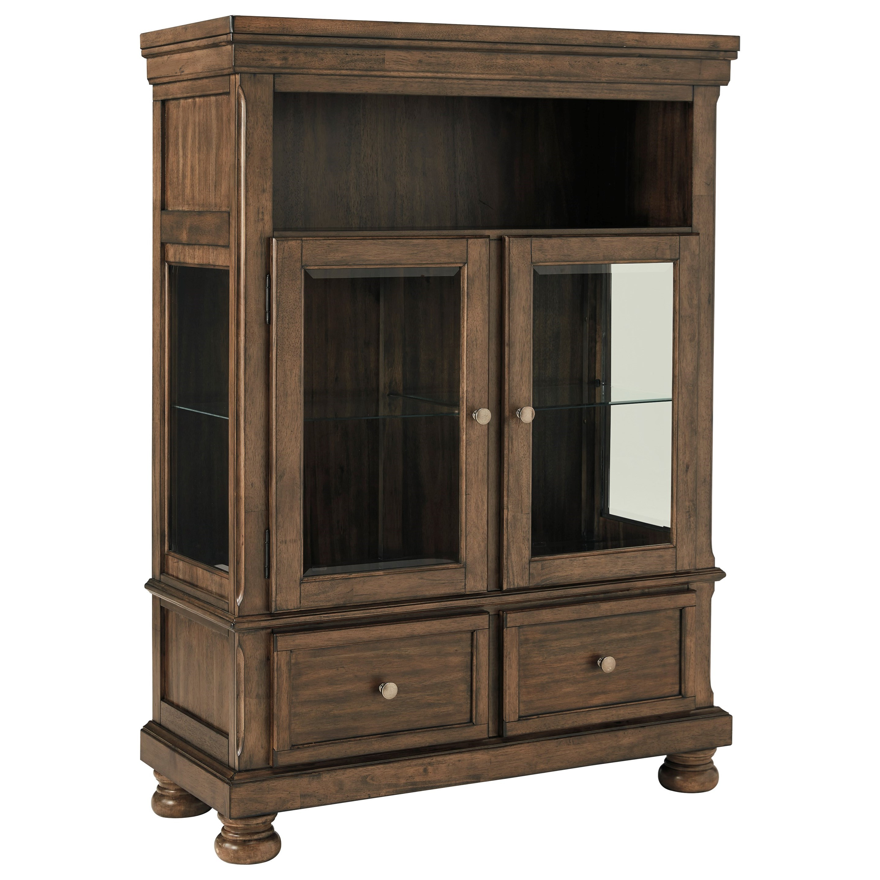 Dining Curio with Glass Shelving