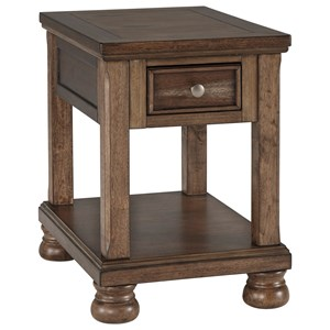Transitional Chair Side End Table
