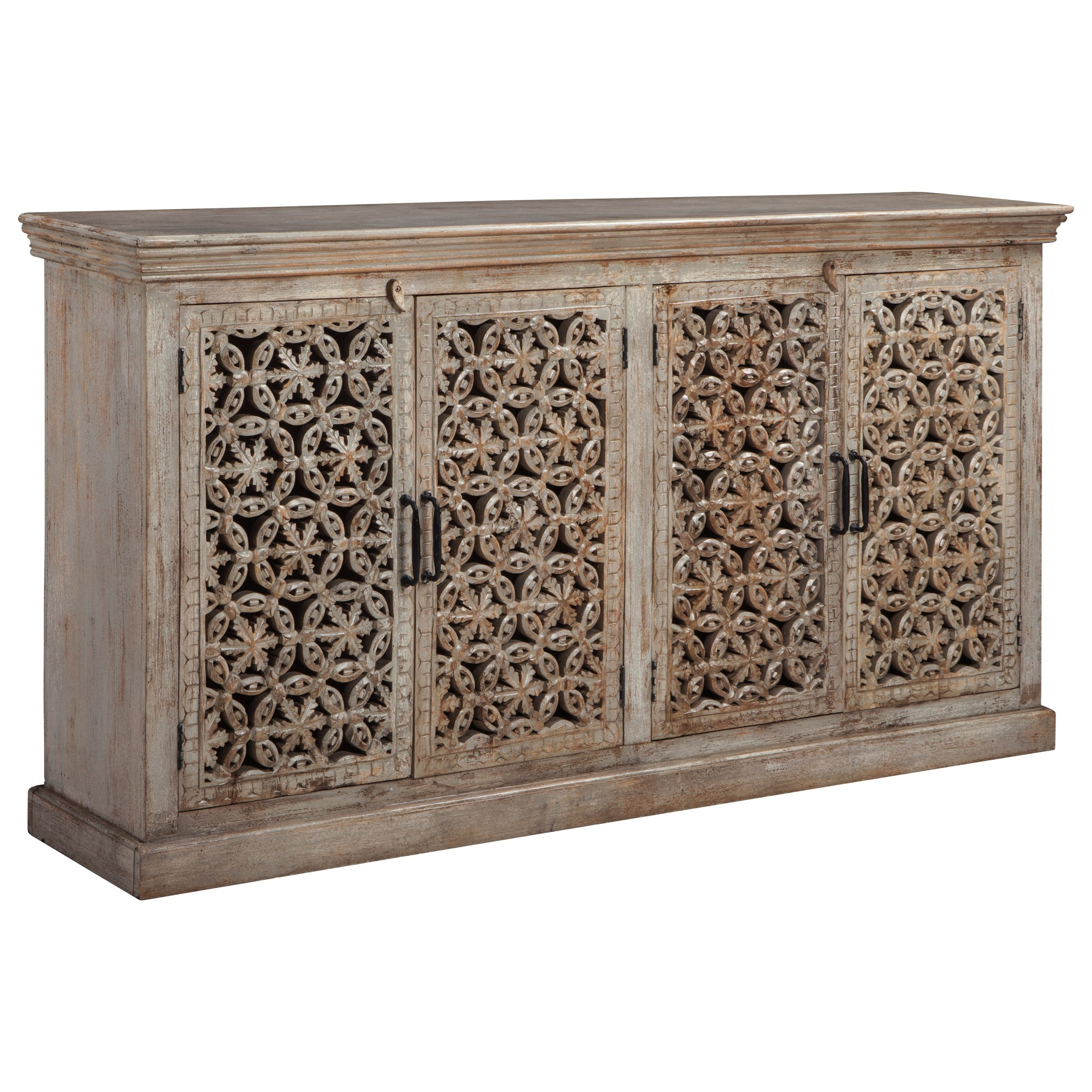 4-Door Hand-Carved Console