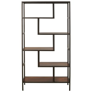 Contemporary Metal/Wood Bookcase