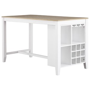 Two-Tone Rectangular Dining Room Counter Table