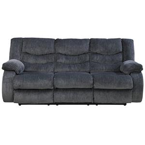 Ashley (Signature Design) Garek - Blue Reclining Sofa