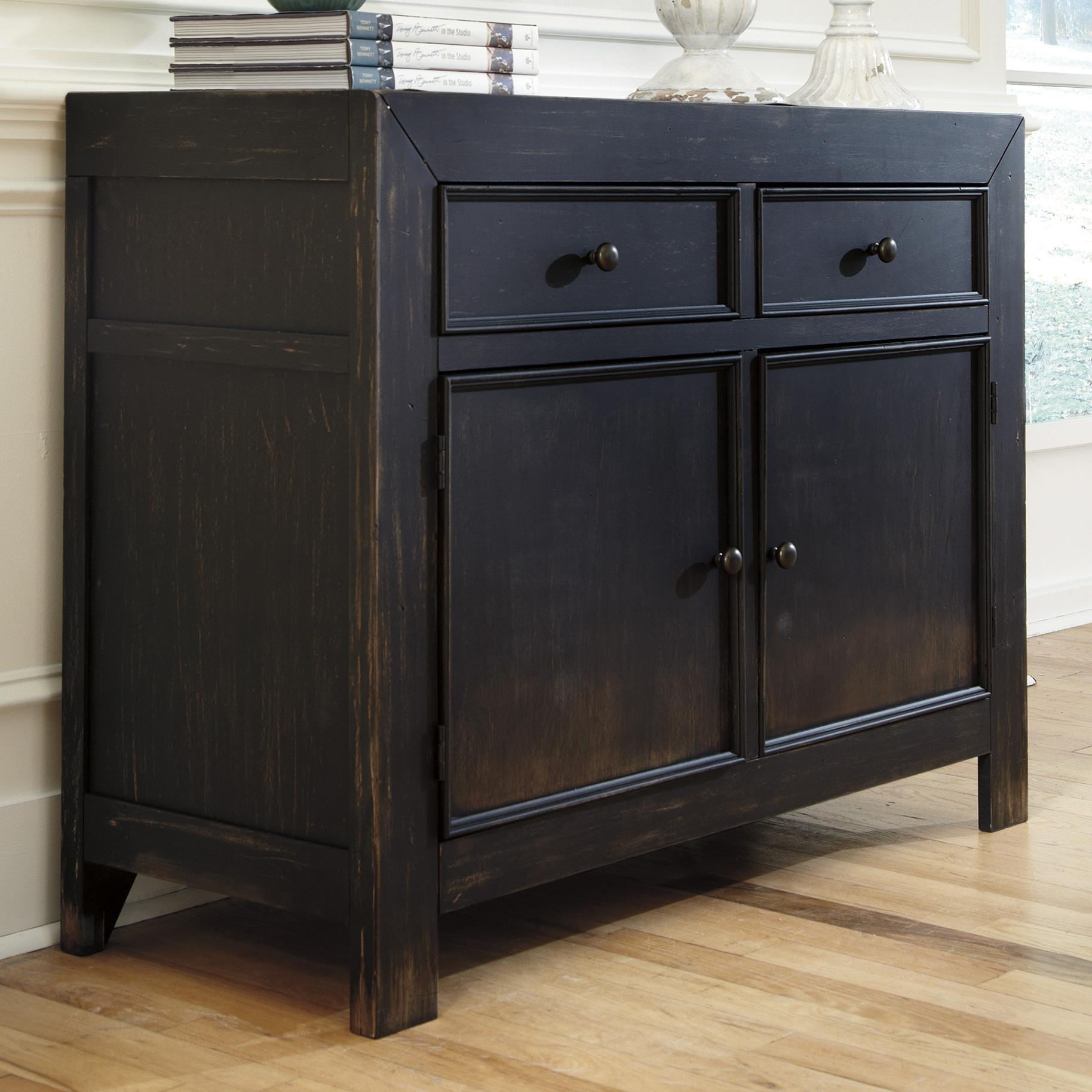 Merveilleux Distressed Black Accent Cabinet