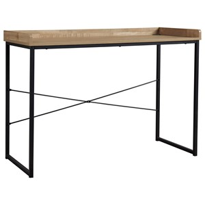 Industrial Home Office Desk with Metal Base