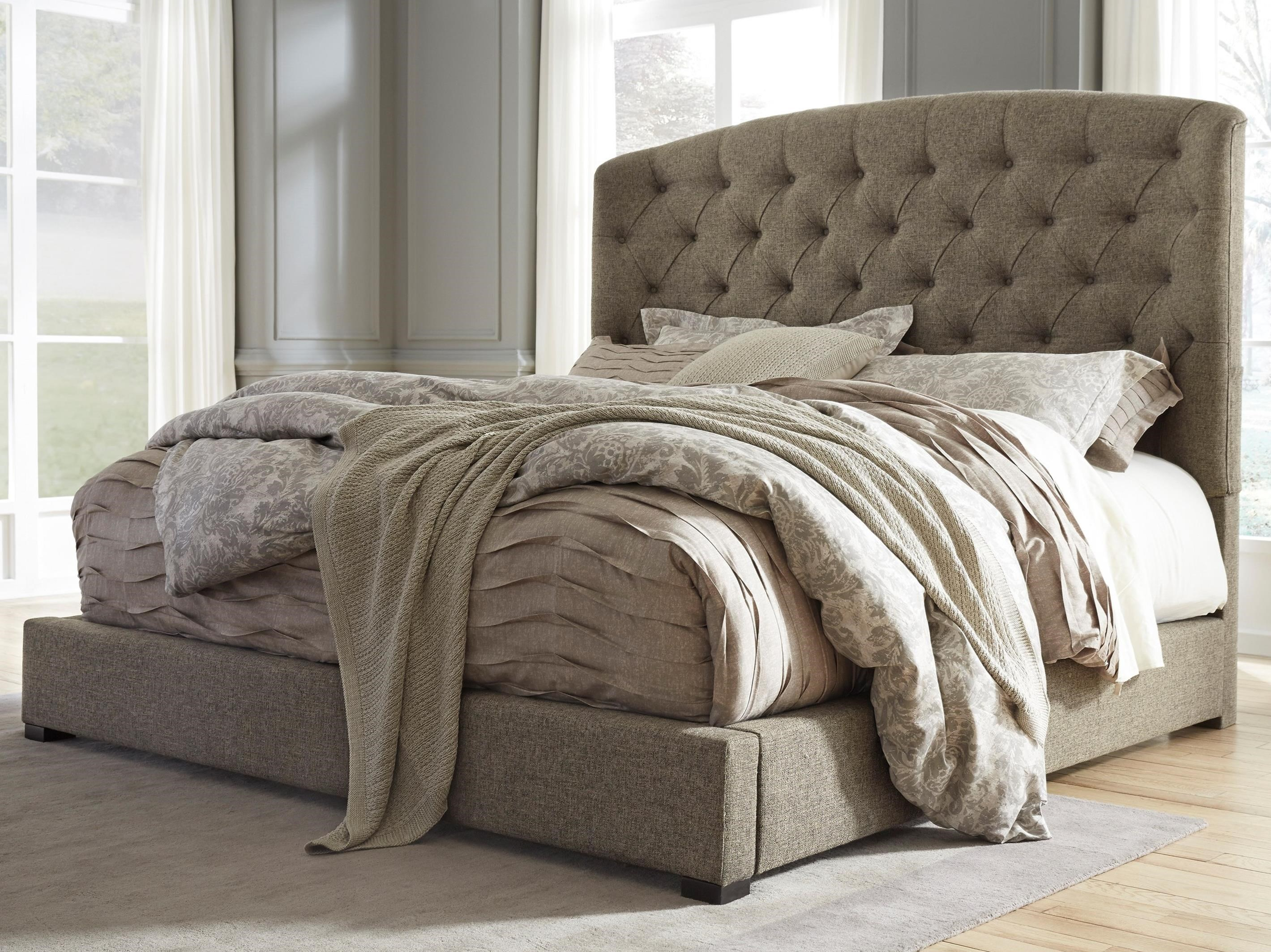 king upholstered bed - King Padded Bedroom Designs
