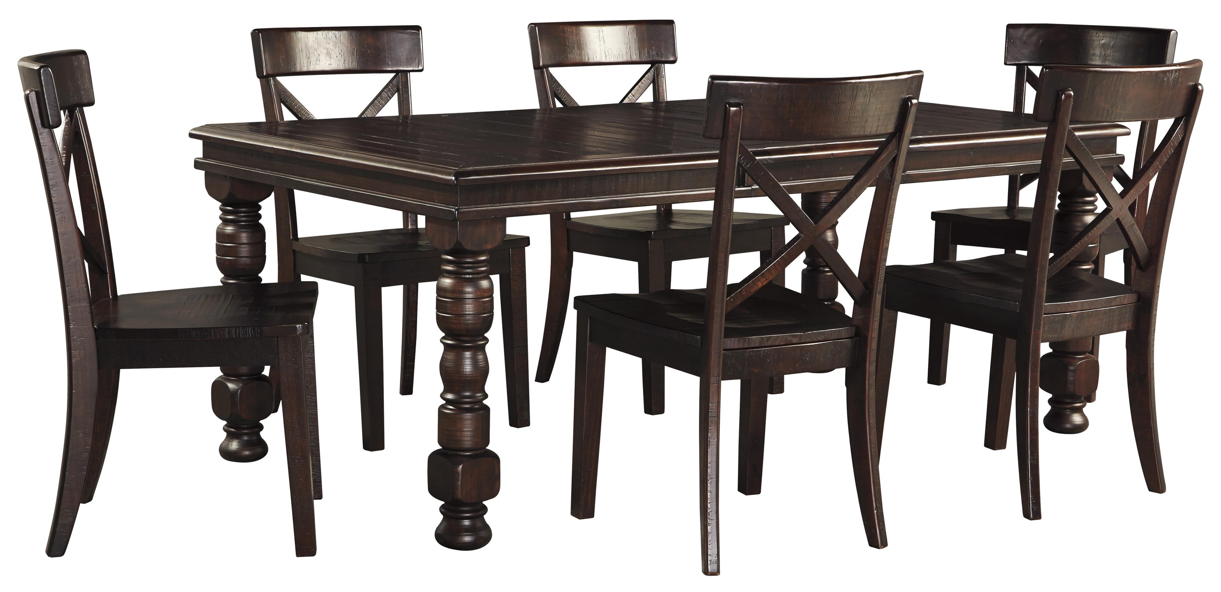 7 piece solid pine dining table set by signature design by for 2 piece dining room set