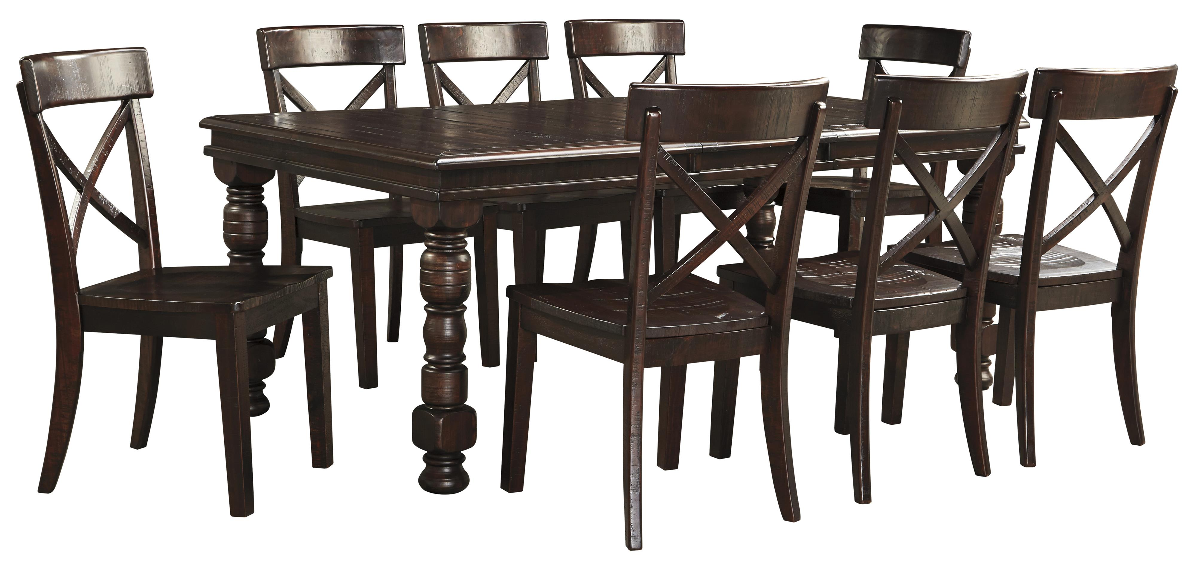 9 Piece Solid Pine Dining Table Set