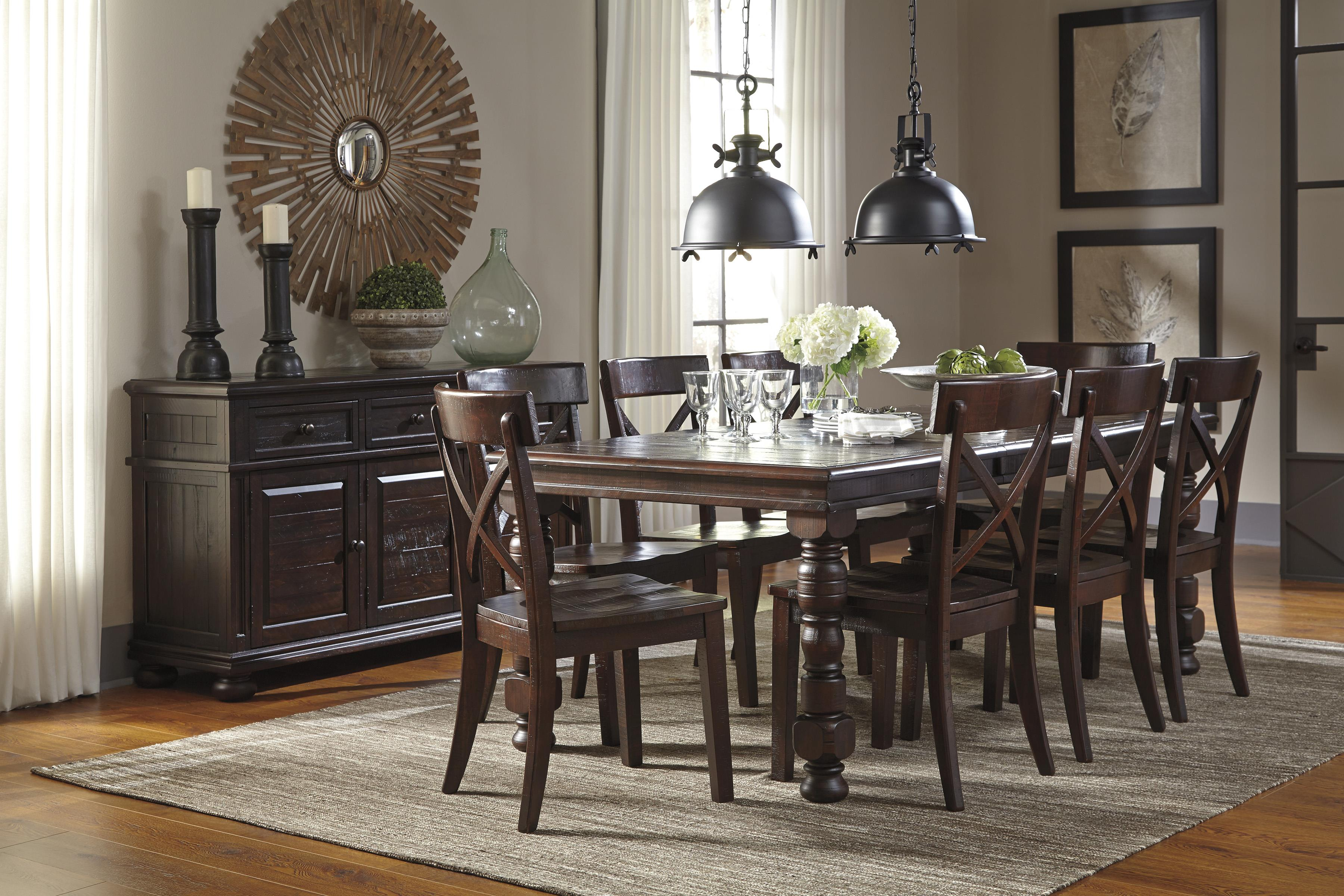 9 piece solid pine dining table set by signature design by ashley 9 piece dining table set