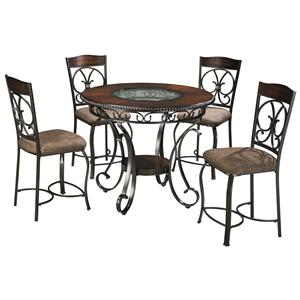 Signature Design by Ashley Glambrey Round Counter Table and Barstool Set