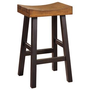 Rustic Two-Tone Tall Stool with Saddle Seat