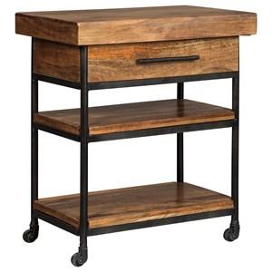 Solid Wood/Metal Serving Cart