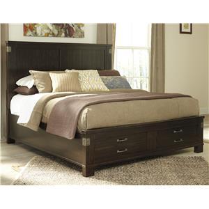 Signature Design by Ashley Haddigan King Panel Storage Bed
