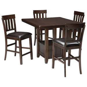 5-Piece Dining Room Counter Extension Table Set
